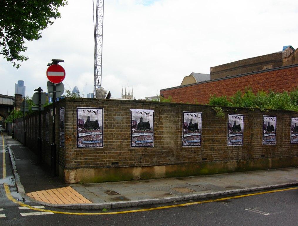 Posters by Jimmy Cauty. Photo by Katy Nicholls