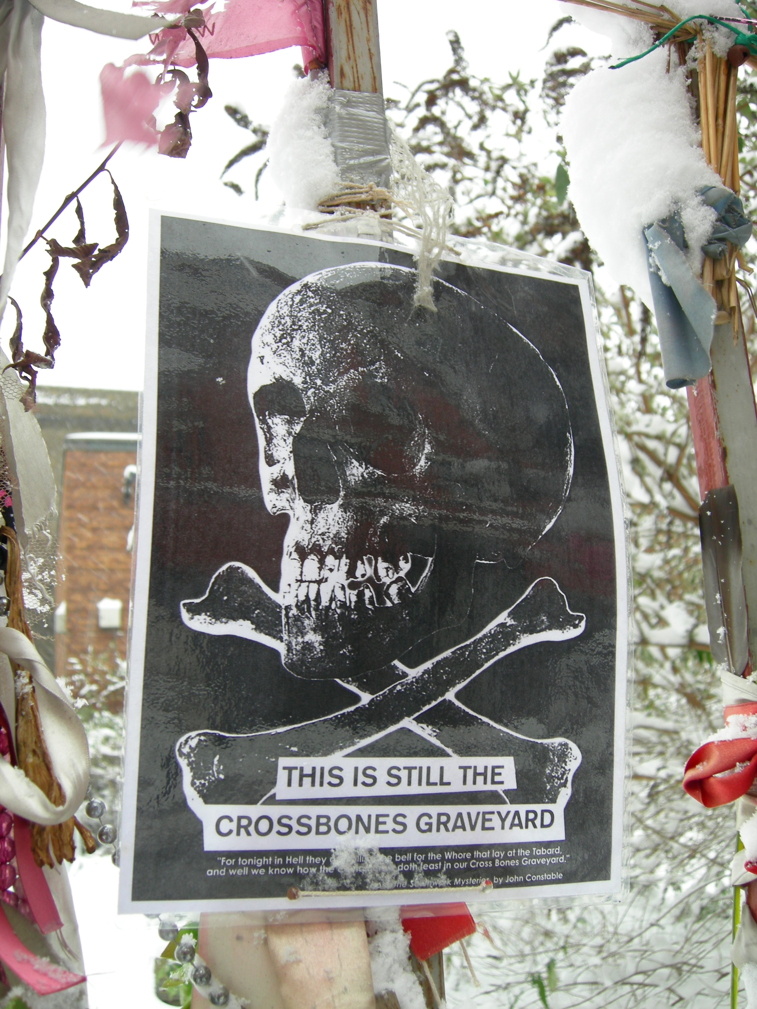 Skull of a Young Woman, Crossbones. Poster (c) Zanna. Poem (c) John Constable. Photo (c) Katy Nicholls