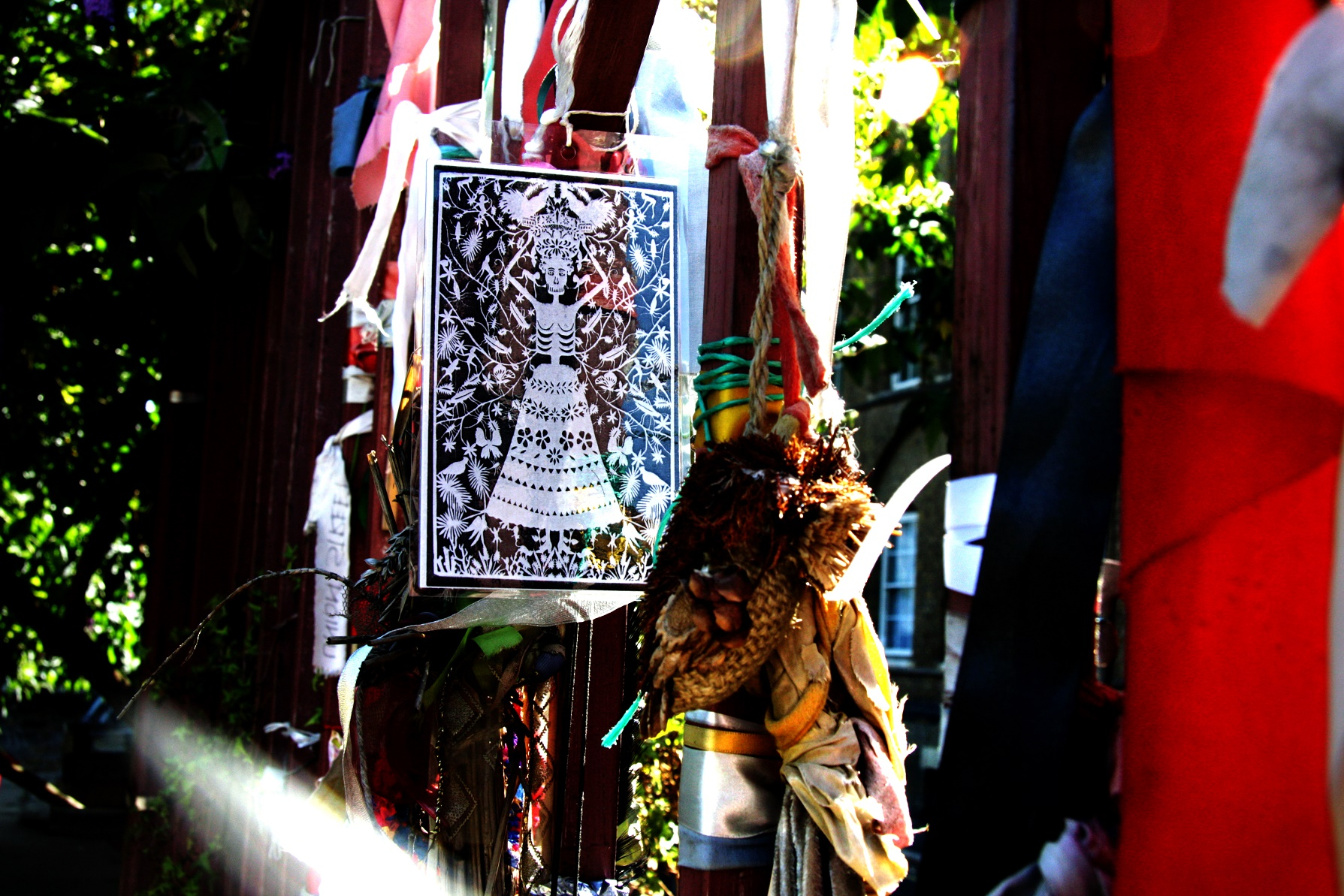 Day of the Dead skeletal Guardian on the Red Gates. Photo (c) Katy Nicholls