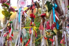 A shrine at Cross Bones gates