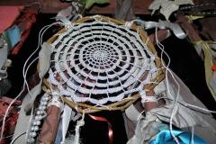 Spiderweb totem by Katy Nicholls
