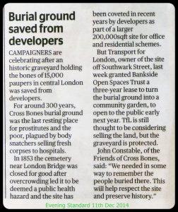Evening Standard 11 Dec 2014