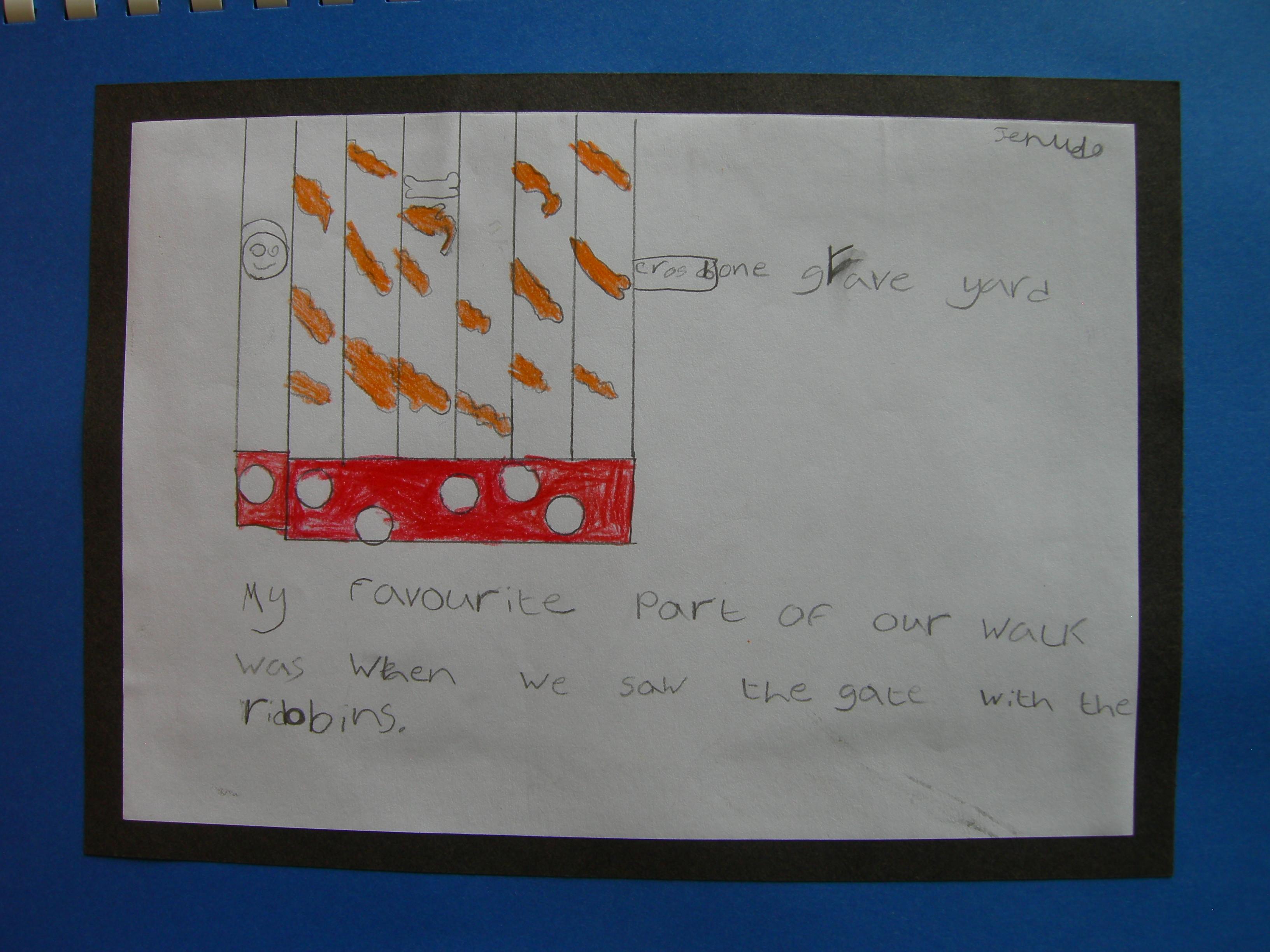 A child's creative response to Crossbones Gates. Photo (c) Katy Nicholls