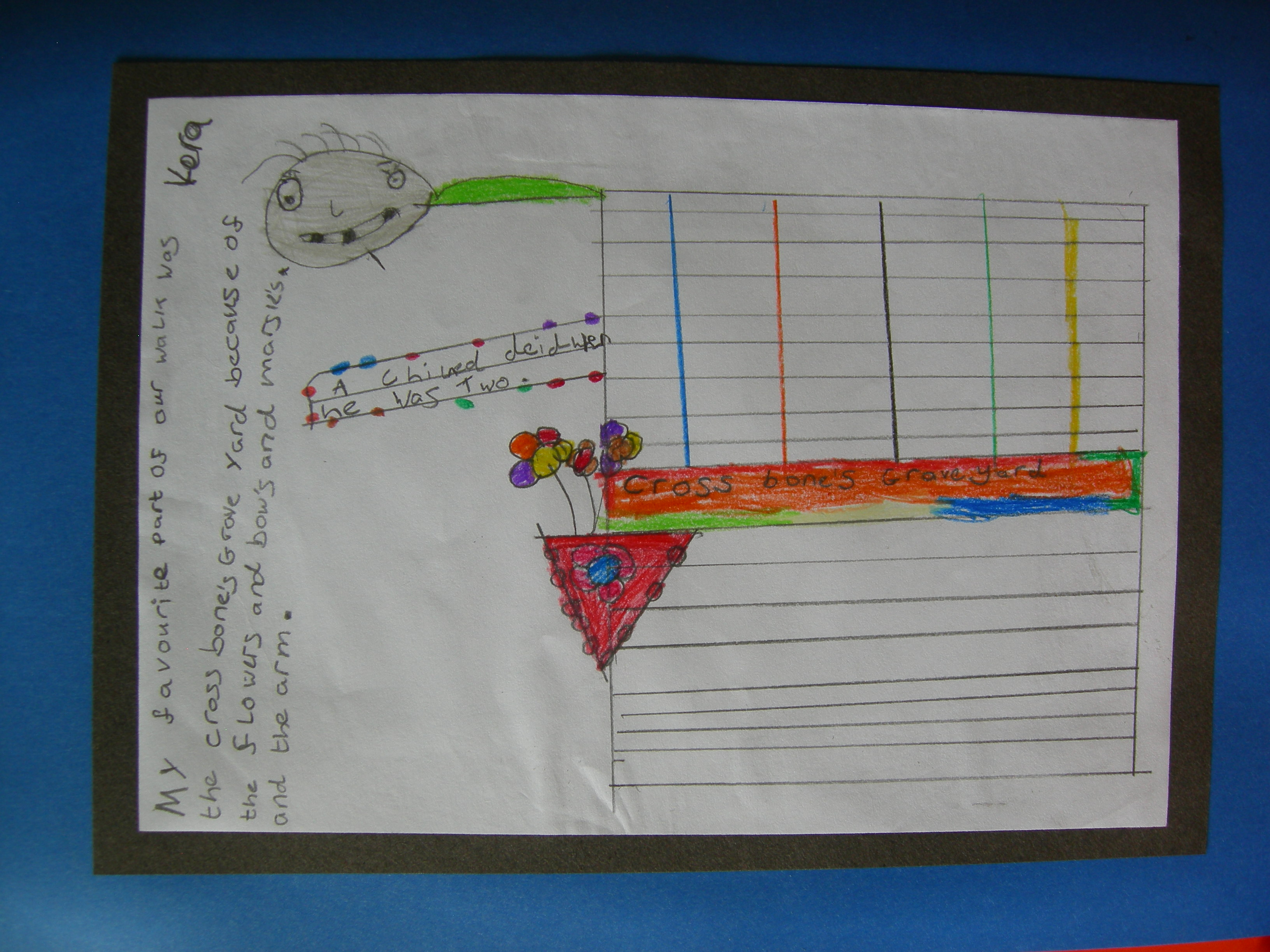 Another child's creative response to the Red Gates. Photo (c) Katy Nicholls